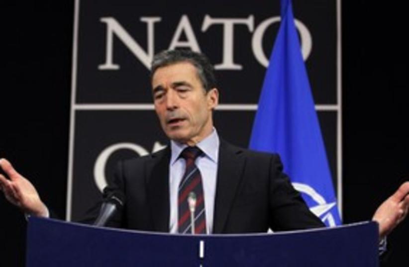 NATO Chief Anders Fogh Rasmussen 311 (photo credit: REUTERS)