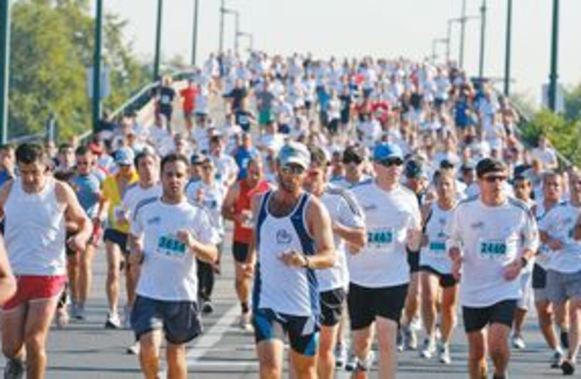 Tel Aviv marathon 311 (photo credit: Ronen Topelberg and Yael Tzur)