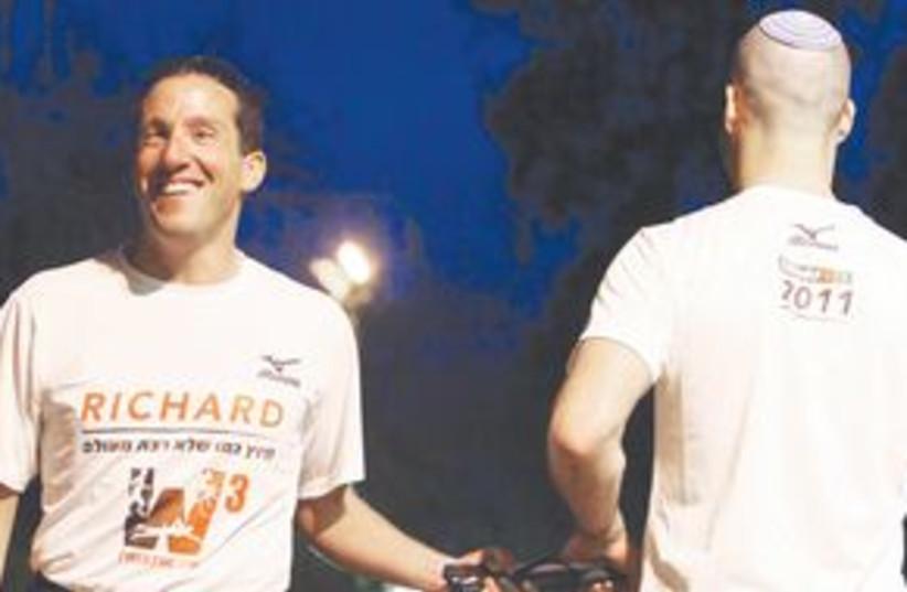RICHARD BERNSTEIN, marathon 311 (photo credit: Courtesy)