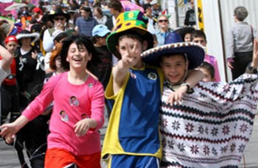 Purim costumes 521 (photo credit: Ariel Jerozolimski )