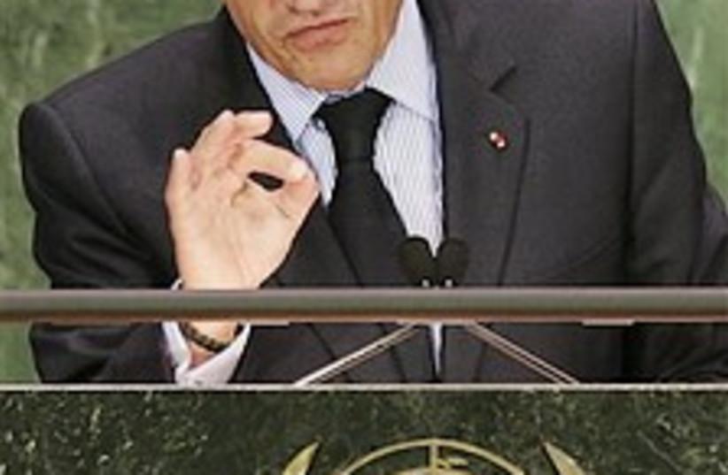 Sarkozy at UN 224.88 (photo credit: AP [file])