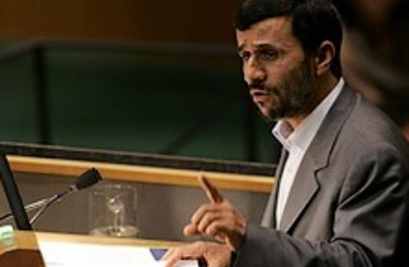 Ahmadinejad at UN 224.88 (photo credit: AP)