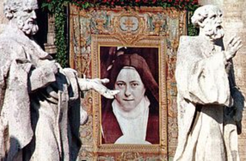 tapestry of st therese 311 (photo credit: REUTERS)