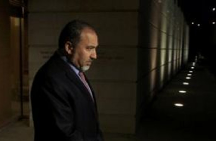 Foreign Minister Avigdor Lieberman 311 (R) (photo credit: REUTERS/Ronen Zvulun)