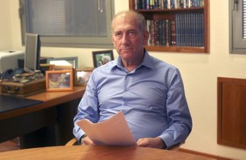 Former prime minister Ehud Olmert 311 R (photo credit: Reuters)