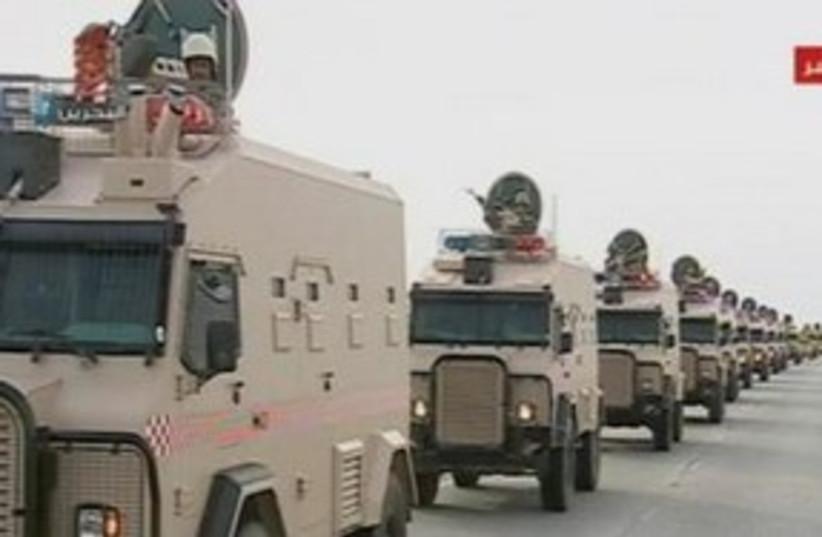 Saudi troops Bahrain 311 (R) (photo credit: REUTERS)