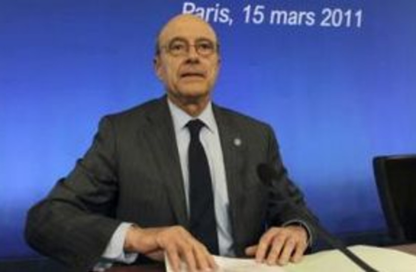 French Foreign Minister Alain Juppe 311 (R) (photo credit: REUTERS/Gonzalo Fuentes)