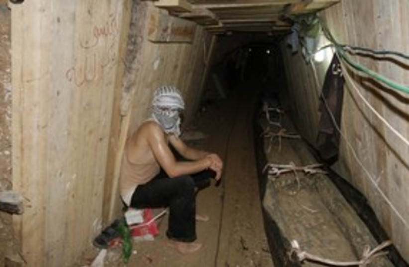 Gaza smuggling tunnel 311 (R) (photo credit: REUTERS)