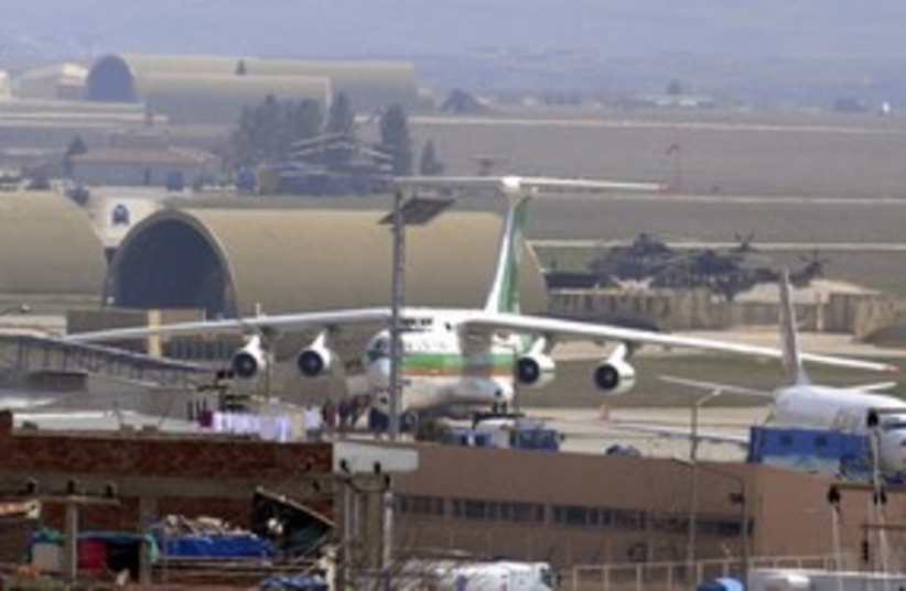 Iranian cargo plane Turkish airport (R) 311 (photo credit: Reuters)