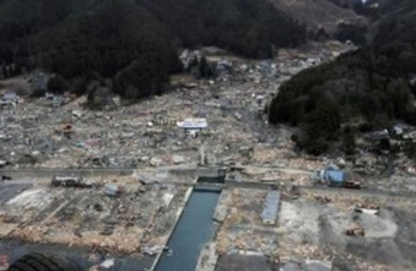 Japan tsunami devestation 311 (photo credit: REUTERS/US Navy)