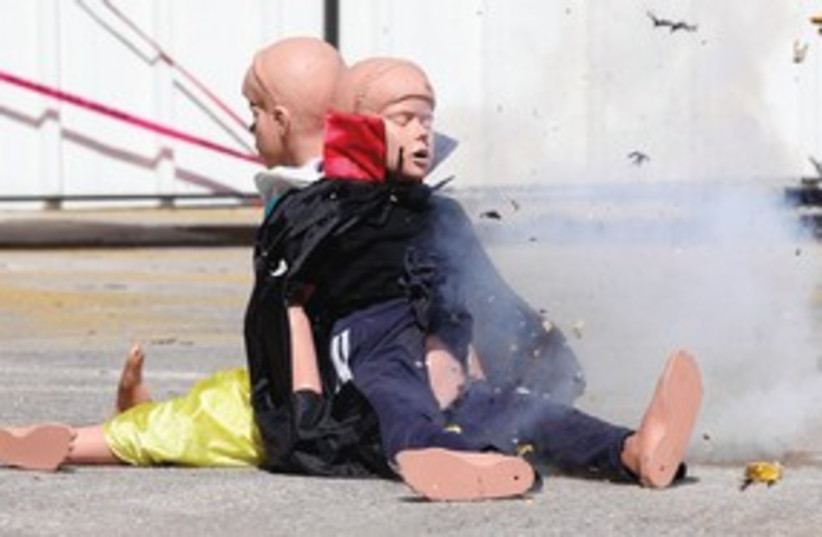 Police blow up doll with fireworks 311 (photo credit: Marc Israel Sellem)