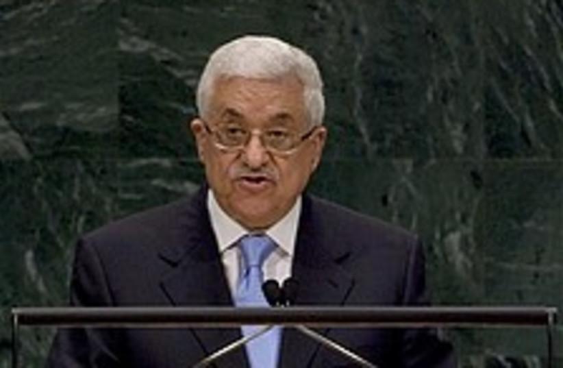 Abbas UN 224.88 (photo credit: AP)