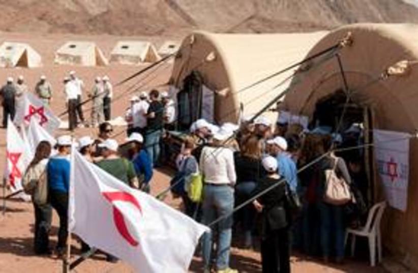 MDA-Jordanian Red Crescent exercise in Arava 311 (photo credit: Dani Machlis / BGU)
