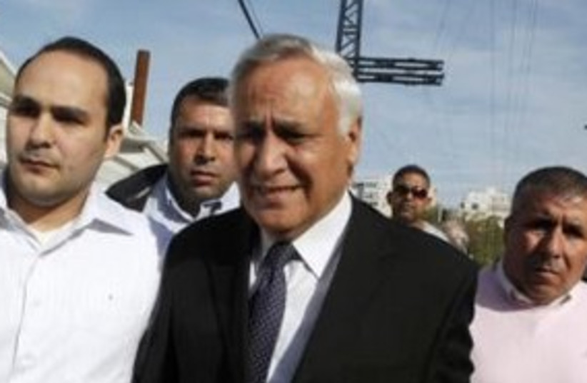 Katsav after sentencing_311(r) (photo credit: REUTERS)