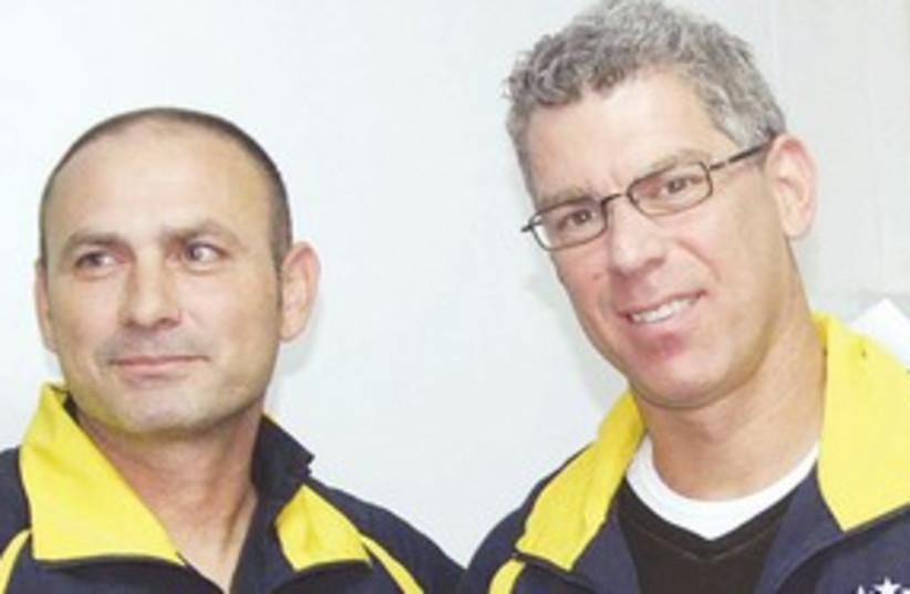 Maccabi Tel Aviv coach and pres 311 (photo credit: Adi Avishai)