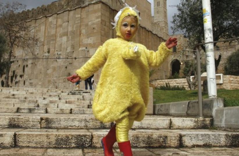 Purim in Hebron  (photo credit: reuters)