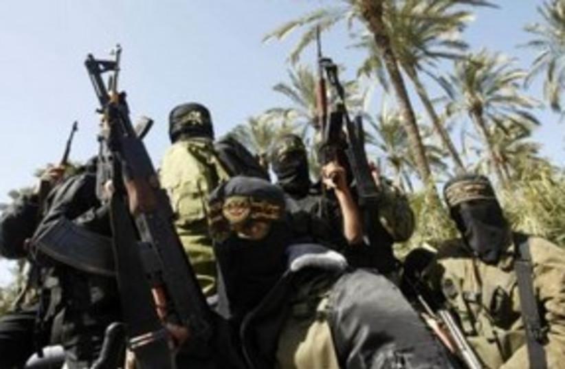 Islamic Jihad terrorists in Gaza City 311 (R) (photo credit: REUTERS/Ibraheem Abu Mustafa)