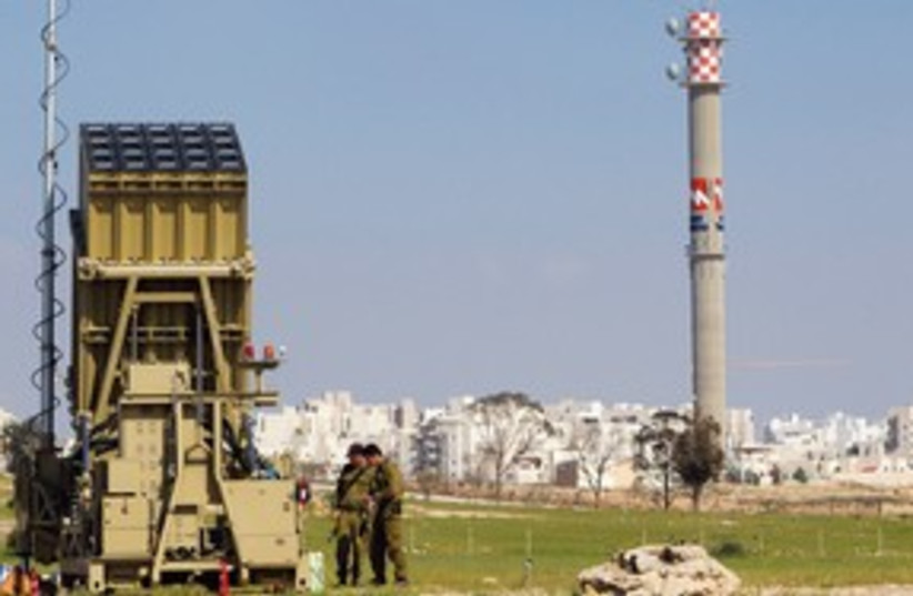 Iron Dome outside Beersheba 311 (R) (photo credit: Reuters)