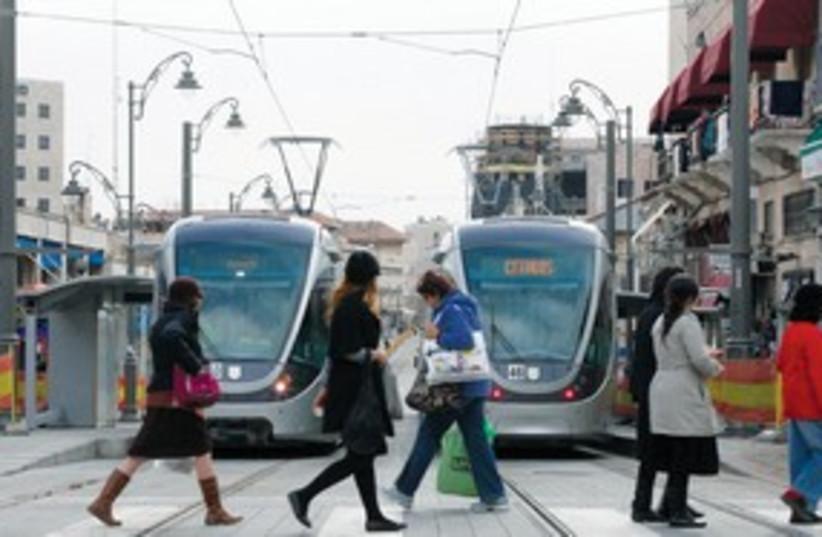 light rail 311 (photo credit: Marc Israel Sellem/The Jerusalem Post)