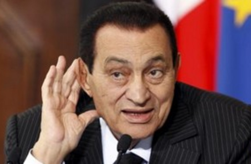 Former Egyptian president Hosni Mubarak 311 Reu (photo credit: REUTERS/Tony Gentile)