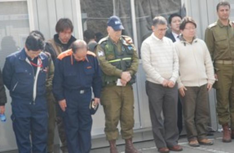 IDF field hospital in Japan ceremony 311 (photo credit: IDF Spokesperson)