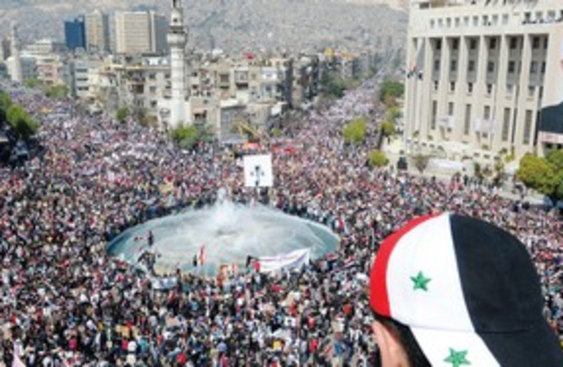 Syria Pro-government rally 311 (photo credit: REUTERS)