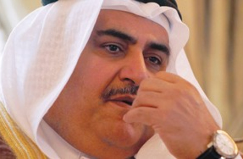 Bahraini ruler Sheikh al-Khalifa 311 (R) (photo credit: REUTERS)