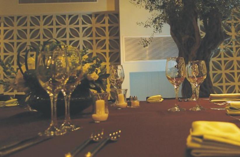 King David Hotel dinner table 521 (photo credit: Courtesy)