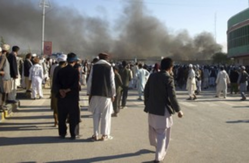 Afghani protesters after UN attack_311 (photo credit: Reuters)