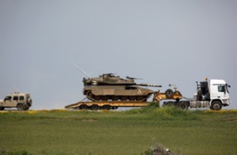 IDF tank 311 (photo credit: REUTERS)