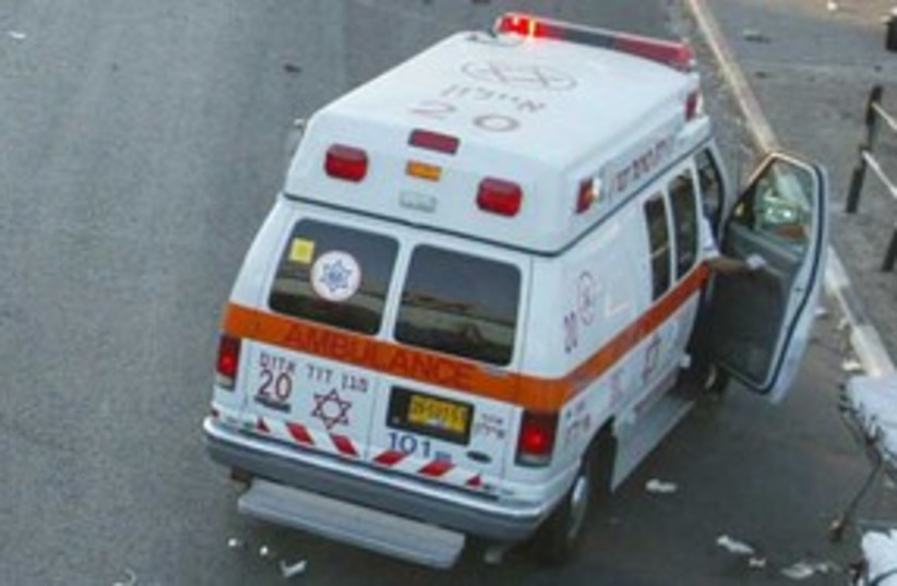 Magen David Adom ambulance 311 (photo credit: REUTERS)