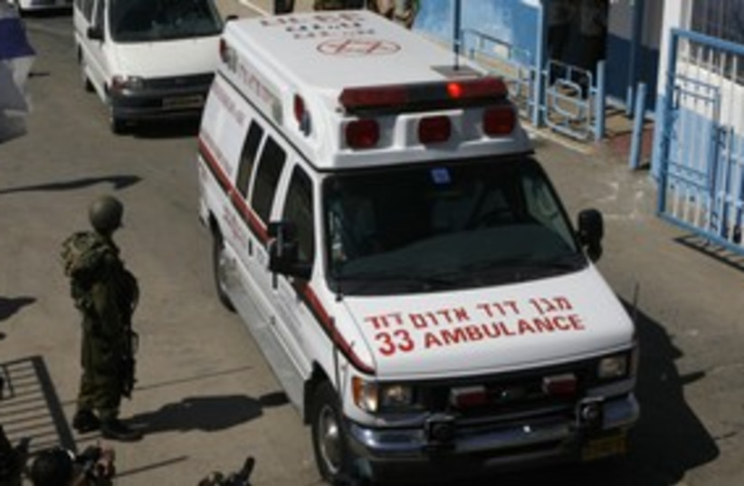 Magen David Adom ambulance 311 (photo credit: REUTERS)