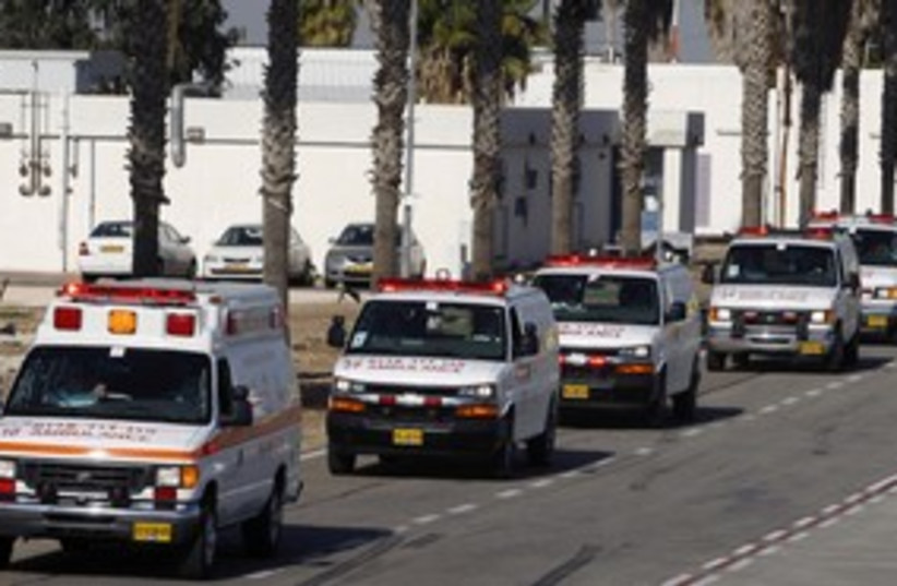 Magen David Adom ambulances 311 (photo credit: REUTERS)