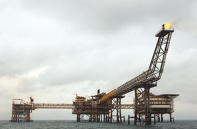 Iranian Gas Platform 311 (photo credit: REUTERS)