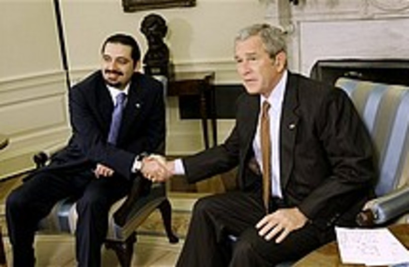 bush hariri 224.88 (photo credit: AP)