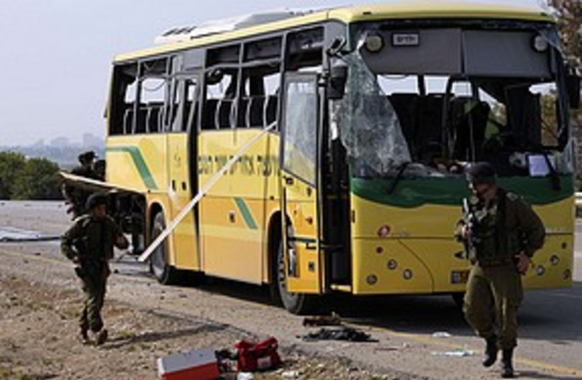 Negev bus mortar attack 311 Reuters (photo credit: Reuters)