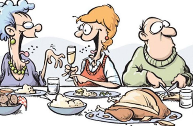 Seder table illustrative 521 (photo credit: Tim Bedison/Fort Worth Star-Telegram/MCT)