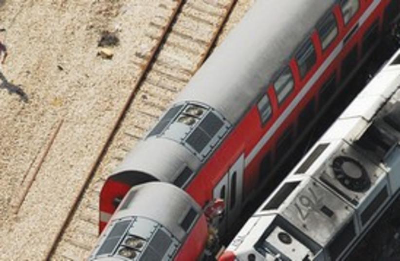 Netanya train collision 311 (photo credit: Israel Police)