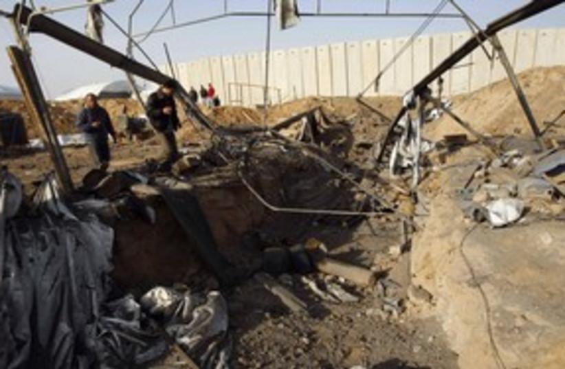 Air strike in Gaza strip_311 (photo credit: Reuters)