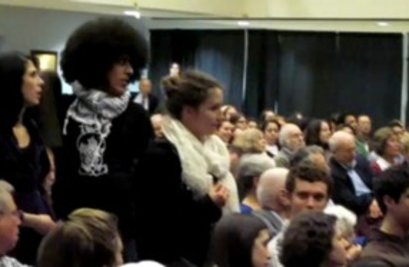 Students for Justice in Palestine at Brandeis 311 (photo credit: YouTube)