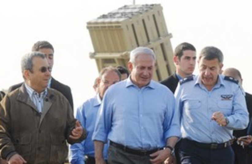Netanyahu Barak Iron Dome 311 (photo credit: Avi Ohayun/GPO)