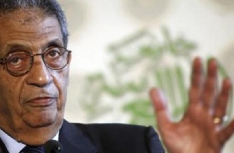 Arab League chief Amr Moussa Egypt 311 (R) (photo credit: REUTERS/Abdallah Dalsh)