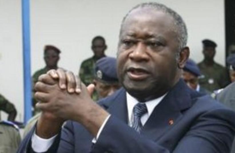 Deposed Ivory Coast leader Laurent Gbagbo 311 (R) (photo credit: REUTERS/Luc Gnago)
