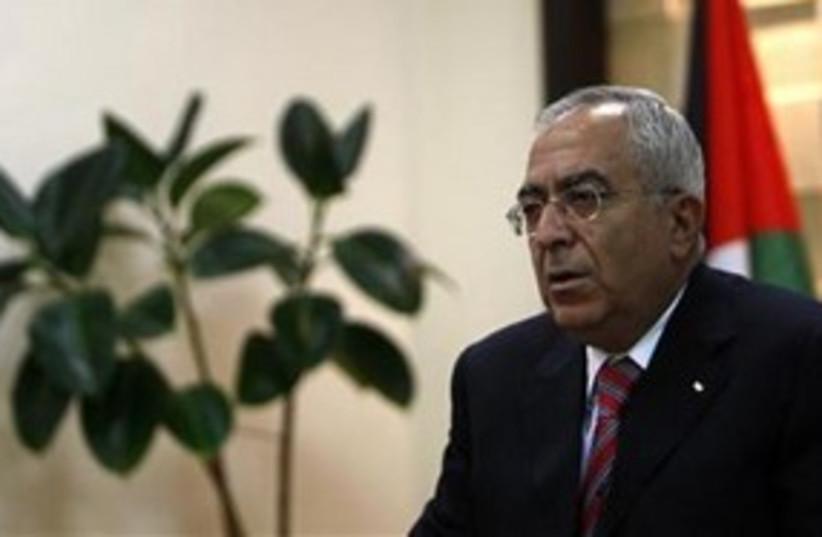 PA Prime Minister Salam Fayyad 311 (R) (photo credit: Reuters)