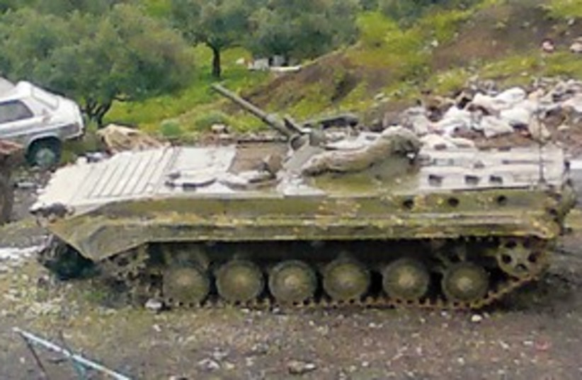 syrian tank_311 reuters (photo credit: Reuters)