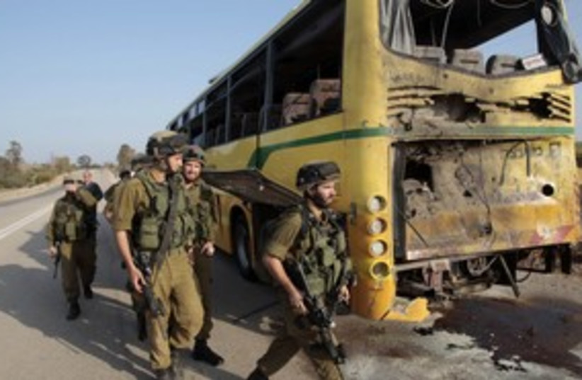 Gaza bus 311 Reuters (photo credit: REUTERS/Baz Ratner)