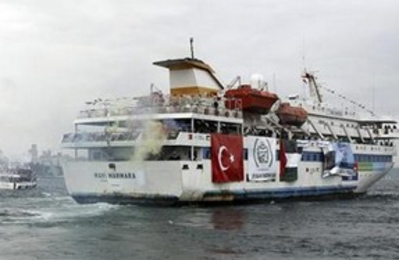 The 'Mavi Marmara' 311 (R) (photo credit: Reuters/Emrah Dalkaya)