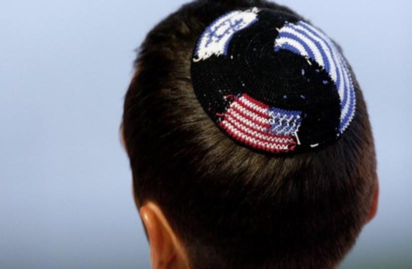 American Israel flag kippa 521 (photo credit: Reuters)