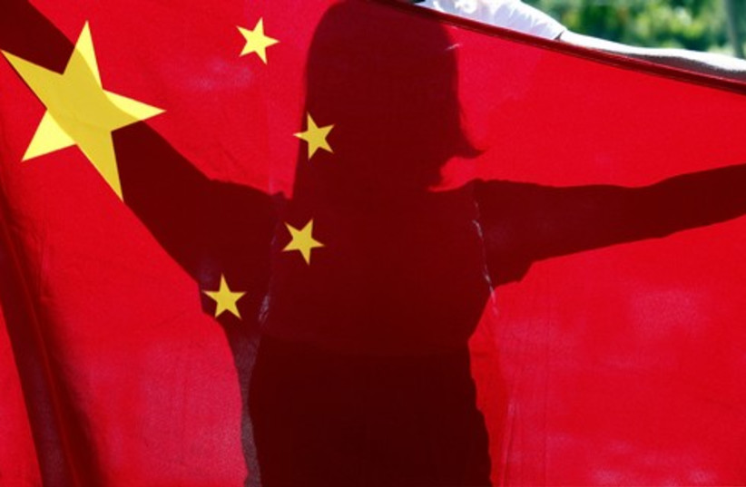Chinese flag 521 (photo credit: Reuters)