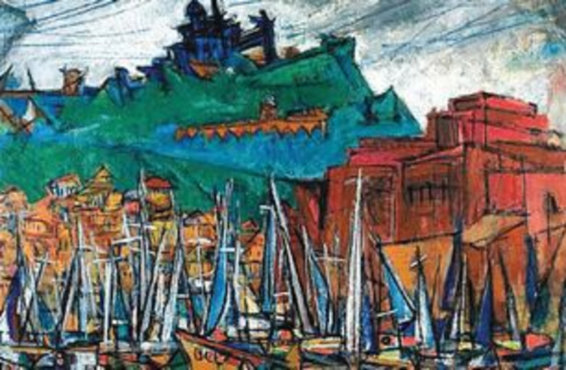 MARCEL JANCO's 'Marseille Port,' painting 311 (photo credit: Courtesy)